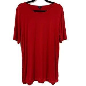 Tops - J.Jill Wearever Red Slinky Short Sleeve Top Large